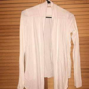 Velvet small white cardigan